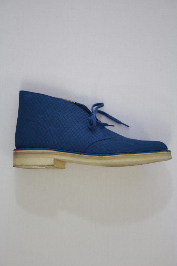 Clarks Originals Blue Snake Desert Boot Veterschoen Hoog Blauw
