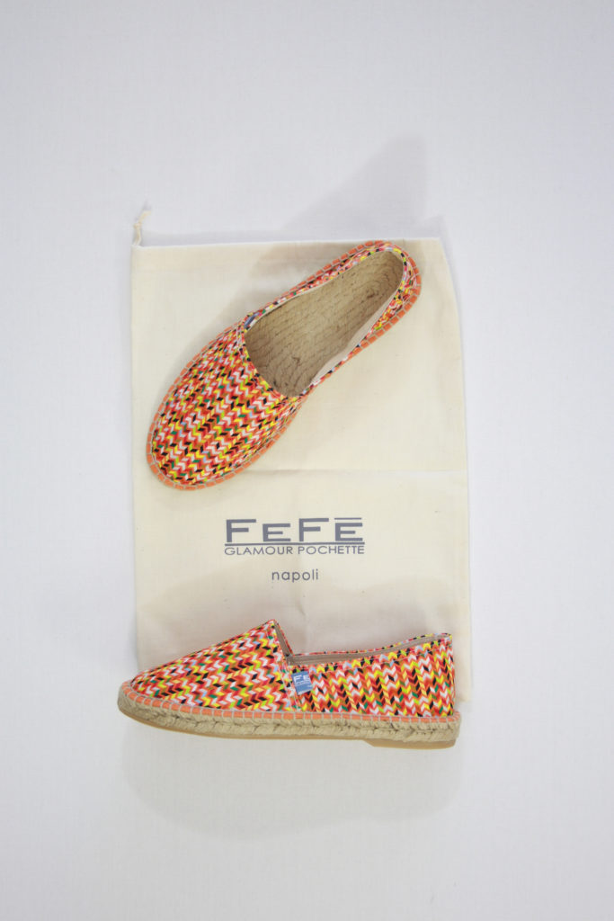 FeFe Espadrilles Oranje V-Shape Print