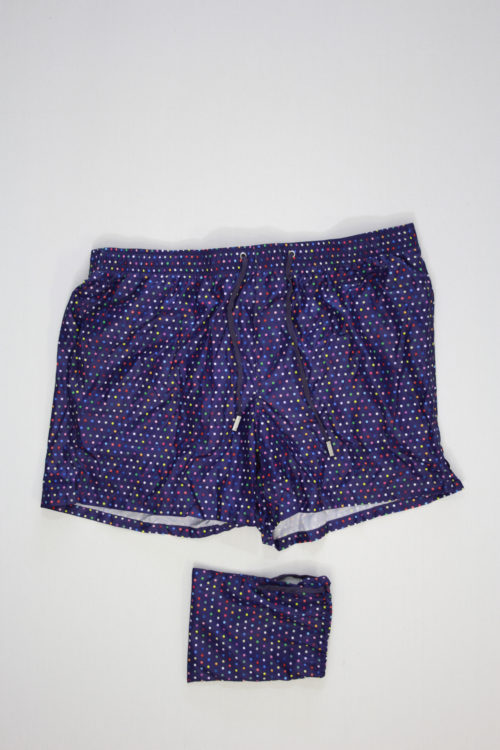 FeFe Swimshort Paars Dotted Print