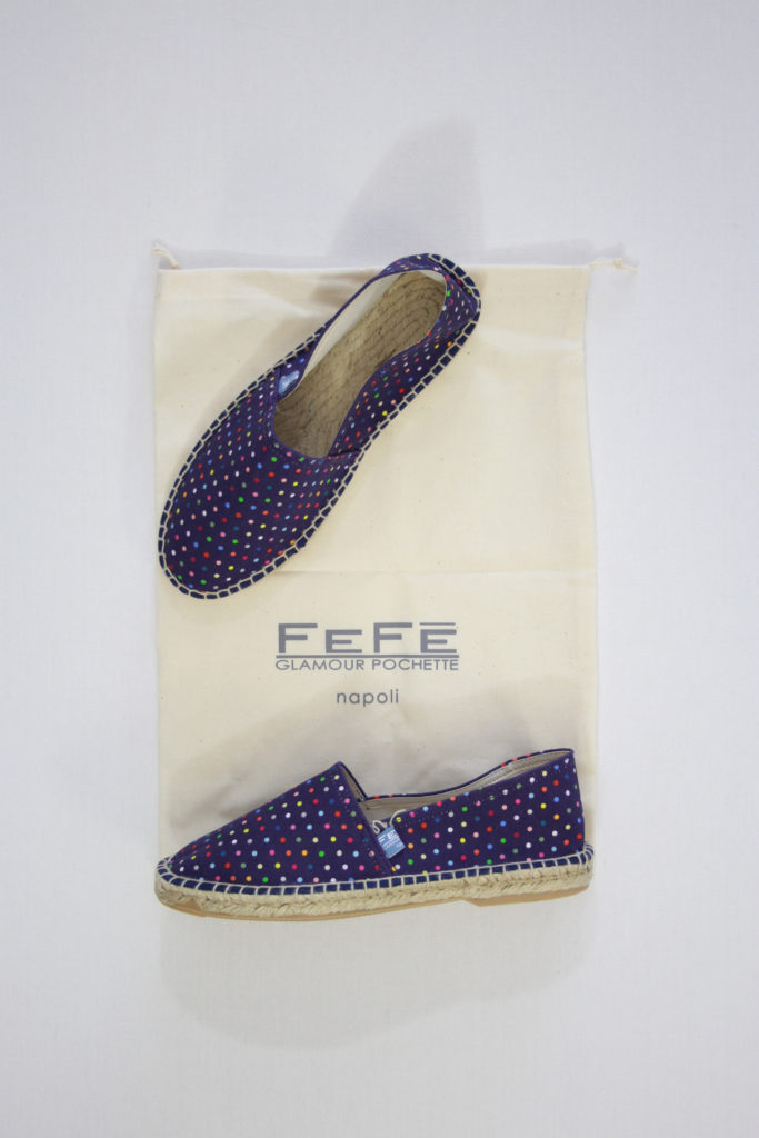 FeFe Espadrilles Paars Dotted Print