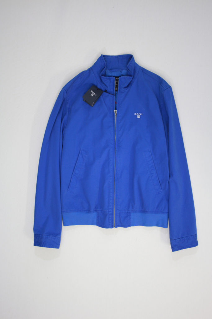 Gant Zip Up Jacket cobalt blauw