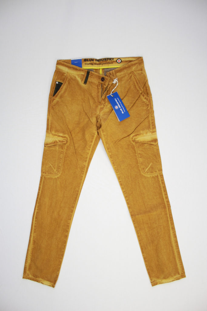 Blue Industry Chino ocher worker camel