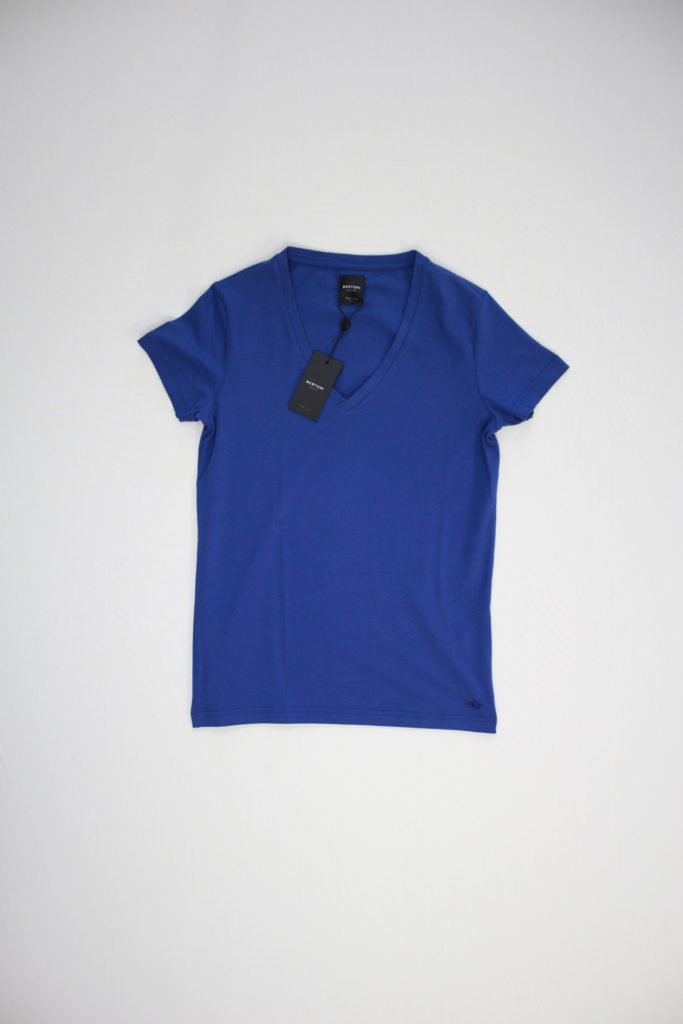Bertoni V-Neck T-Shirt stretch blauw