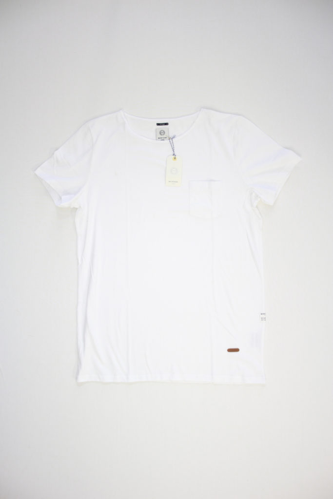Bertoni Noble Fade T-Shirt Wit round neck