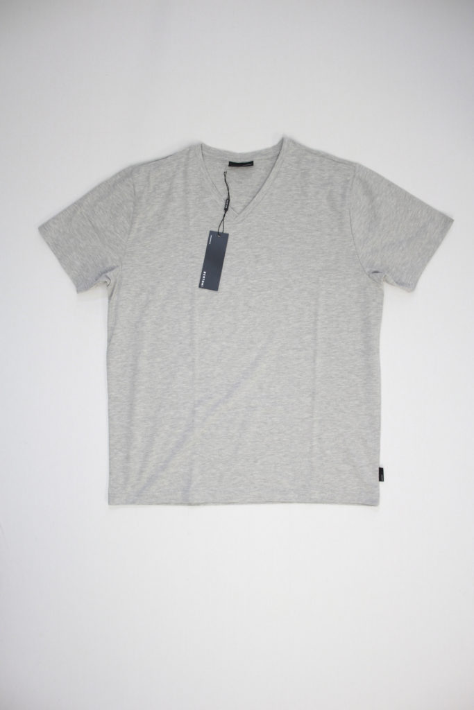 Bertoni Basic V-Neck T-Shirt grijs