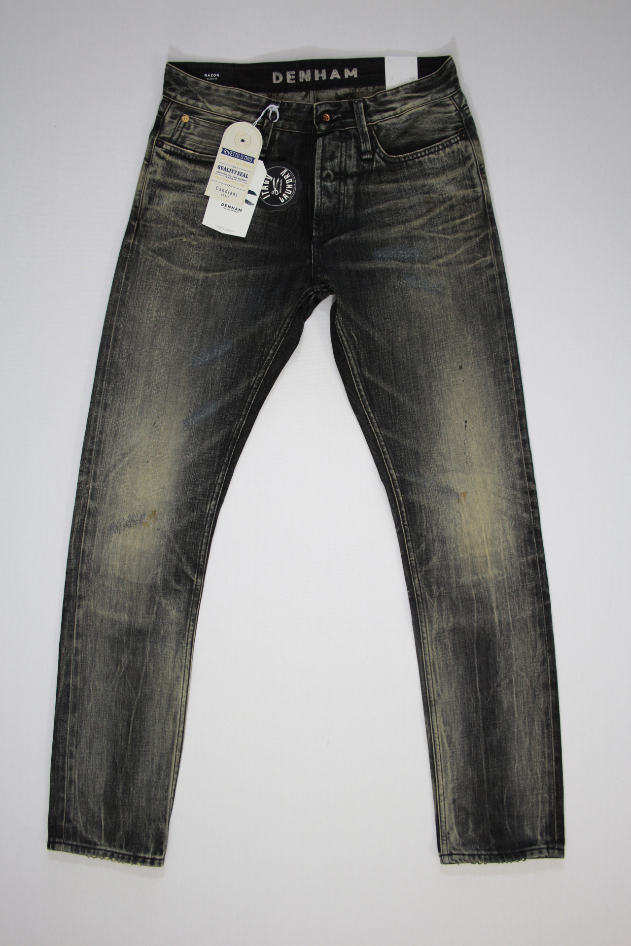 Denham Razor Japan Heavy Wash Zwart Jeans